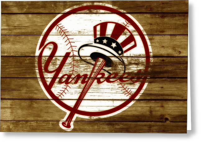 The New York Yankees 3f     Greeting Card