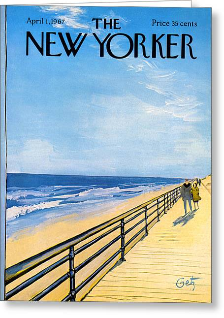 The New Yorker Cover - April 1st, 1967 Greeting Card