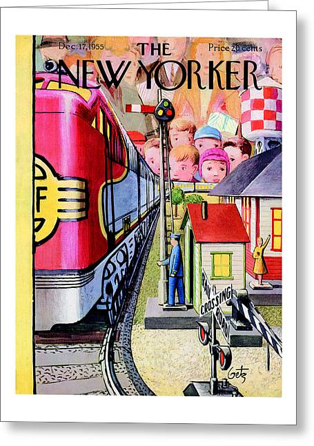 The New Yorker Cover - December 17th, 1955 Greeting Card