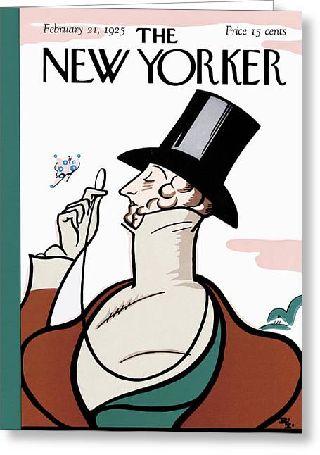 The New Yorker Cover - February 21st, 1925 Greeting Card by Rea Irvin