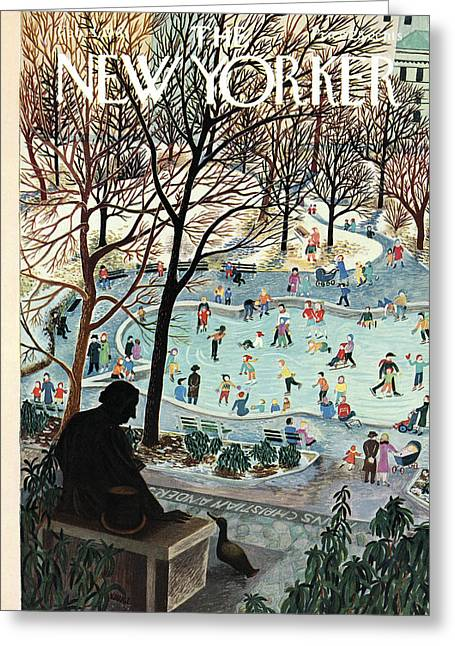 The New Yorker Cover - February 4th, 1961 Greeting Card by Ilonka Karasz