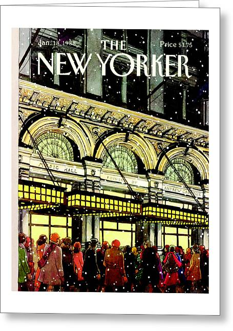 The New Yorker Cover - January 18th, 1988 Greeting Card