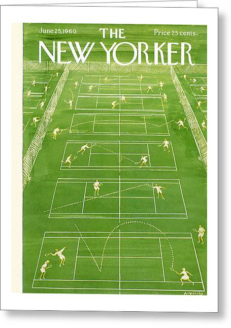 The New Yorker Cover - June 25th, 1960 Greeting Card
