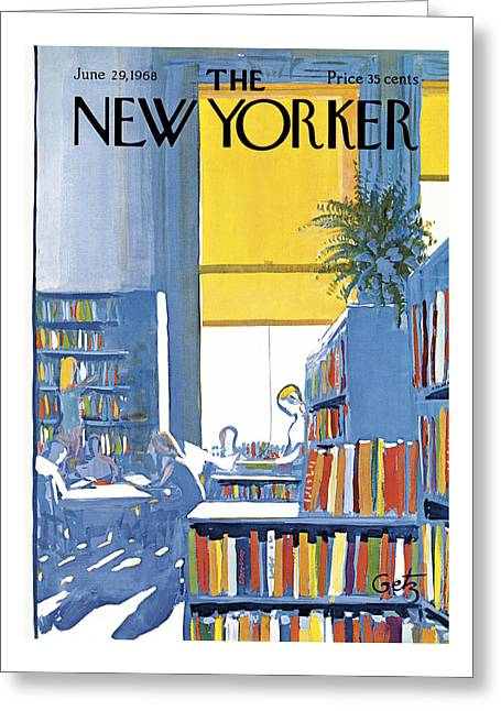 New Yorker June 29th 1968 Greeting Card