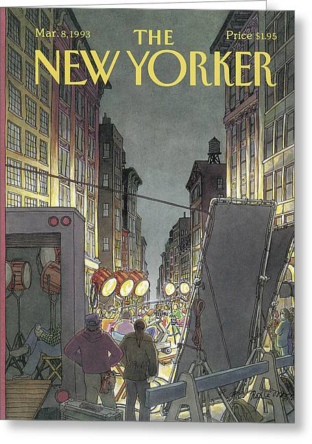 The New Yorker Cover - March 8th, 1993 Greeting Card