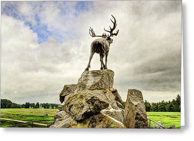 The Newfoundland Caribou Above The Trenches Greeting Card by Weston Westmoreland