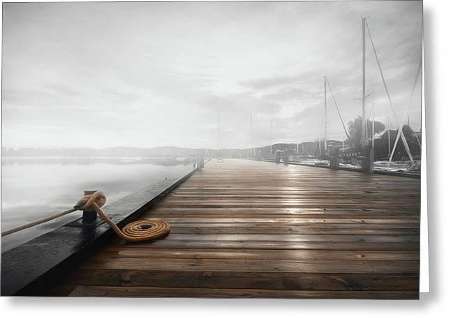 The Newport Dock Greeting Card