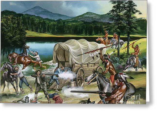 The Nez Perce Greeting Card by Ron Embleton