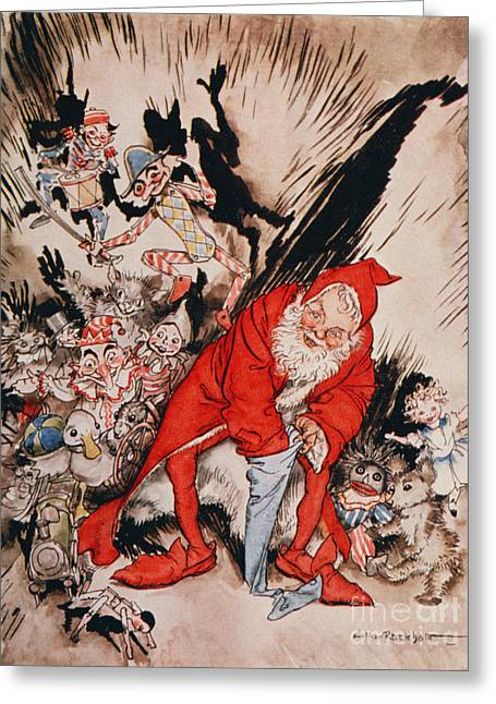 The Night Before Christmas Greeting Card by Arthur Rackham