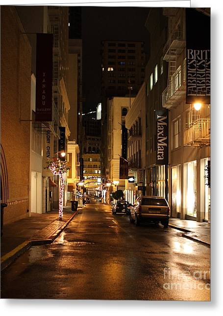 The Night Before Christmas On Maiden Lane Greeting Card