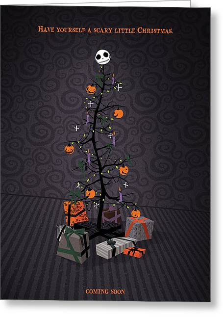 The Nightmare Before Christmas Alternative Poster Greeting Card by Christopher Ables