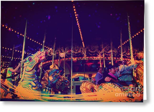 The Nightmare Carousel 22 Greeting Card by Marina McLain