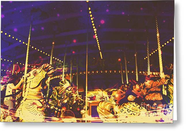 The Nightmare Carousel 7 Greeting Card by Marina McLain