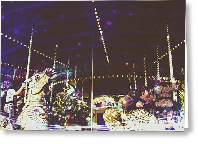The Nightmare Carousel 8 Greeting Card by Marina McLain