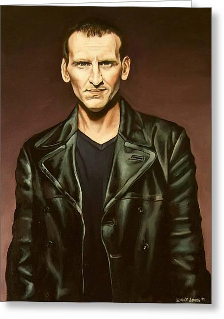 The Ninth Doctor Greeting Card by Emily Jones