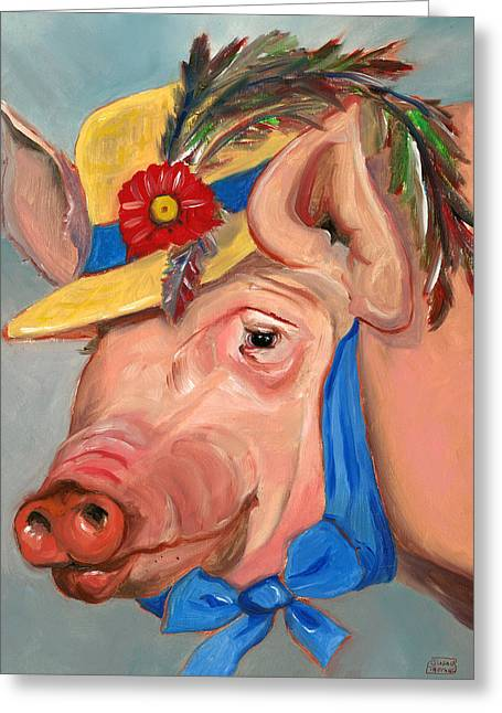 The Noble Pig Greeting Card