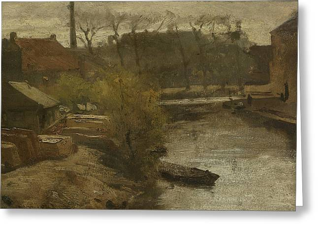 The North West Buitensingel Hague Greeting Card by Matthijs Maris