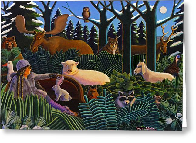 The North Woods Dream Greeting Card by Robin Moline