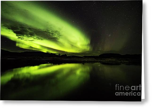 The Northern Lights Thingvellir Greeting Card