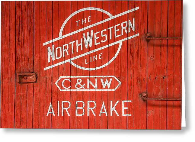 The Northwestern Line Greeting Card by Todd Klassy