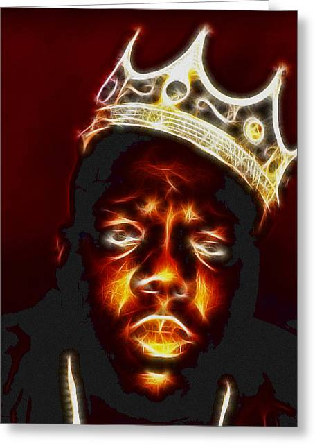 The Notorious B.i.g. - Biggie Smalls Greeting Card by Paul Ward
