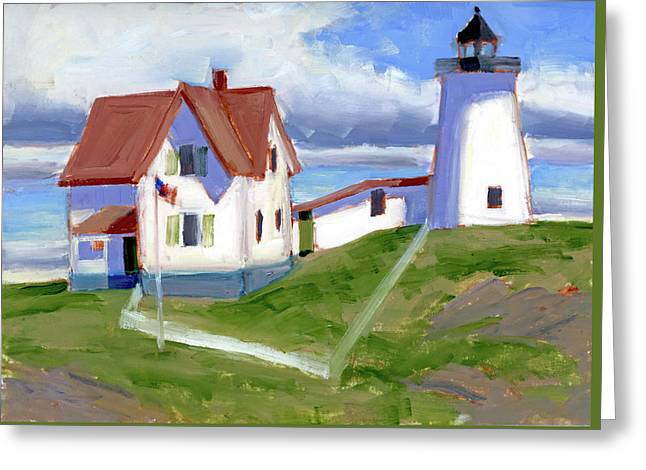 The Nubble Greeting Card by Mary Byrom