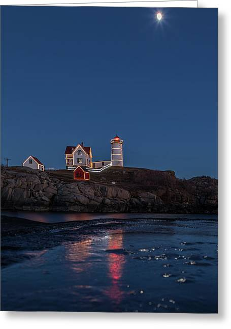 The Nubble Waiting For Snow Greeting Card