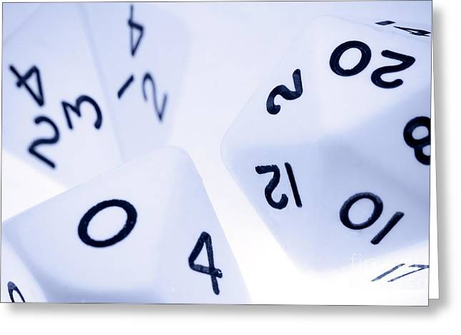 The Numbers Game Greeting Card by Charles Dobbs