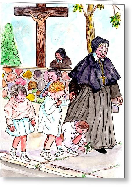 The Nuns Of St Marys Greeting Card