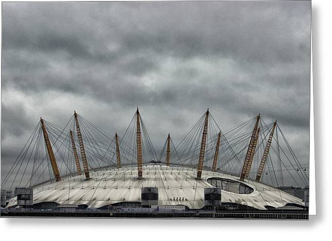 The O2 Arena Greeting Card by Martin Newman