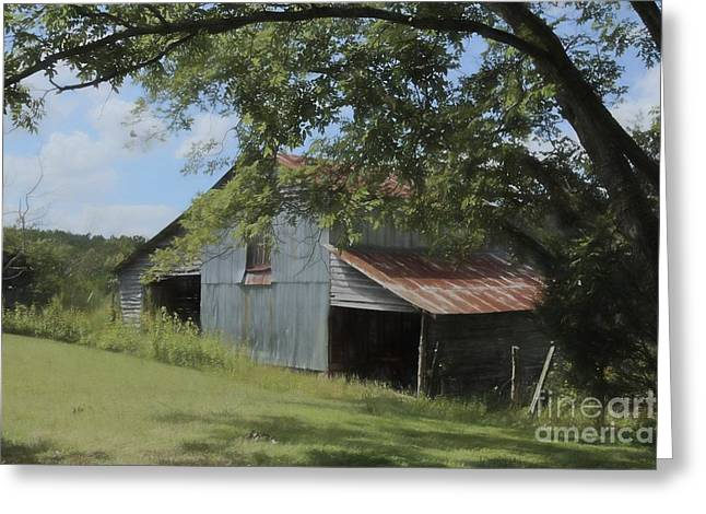 The Oak Branch Barn Greeting Card by Benanne Stiens
