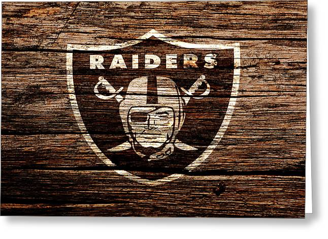 The Oakland Raiders 1e Greeting Card by Brian Reaves