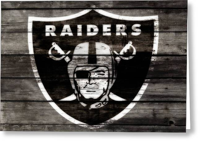 The Oakland Raiders 3a Greeting Card by Brian Reaves