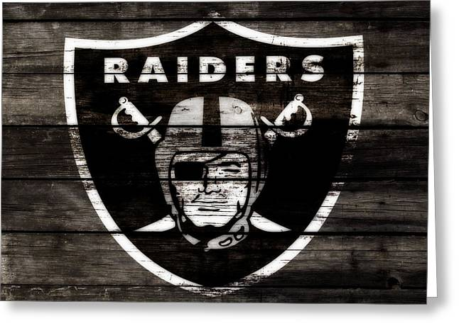 The Oakland Raiders 3b Greeting Card by Brian Reaves