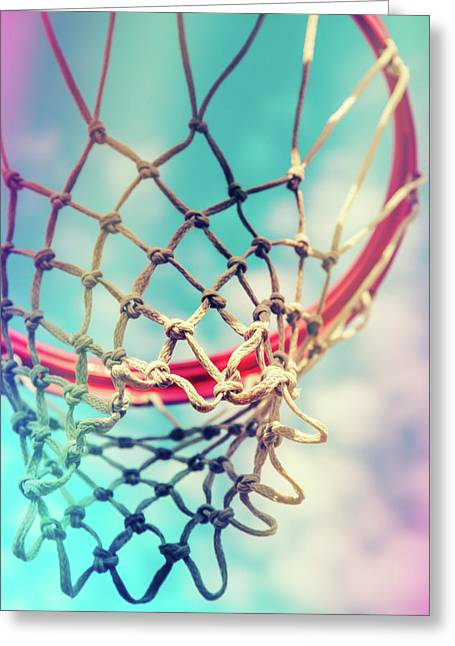 The Object Of Basketball Greeting Card by Karol Livote