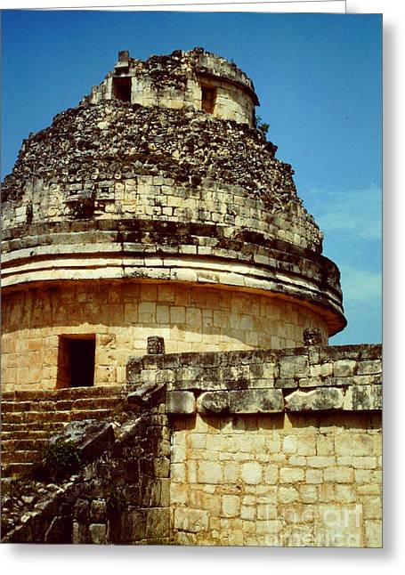 The Observatory El Caracol Greeting Card by Roy Anthony Kaelin