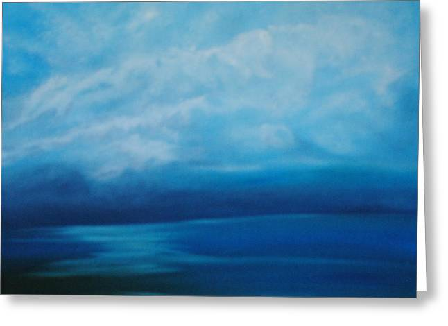 The Ocean And The Sky Greeting Card by Fiona Dinali