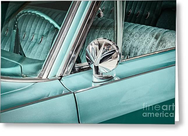 The Ocean Blue Classic Car Greeting Card by Martin Bergsma