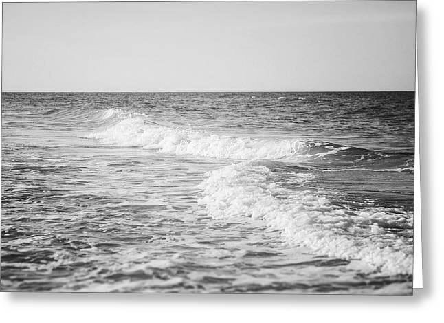 The Ocean Blue In Black And White Greeting Card