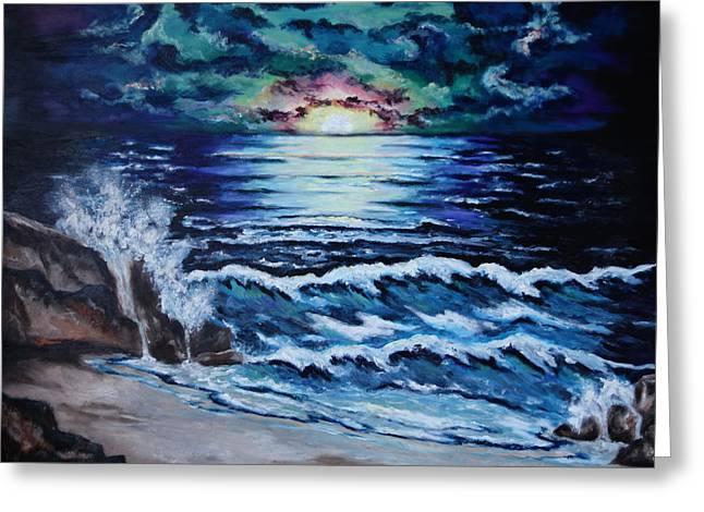 The Ocean Sings The Sky Listens Greeting Card by Cheryl Pettigrew