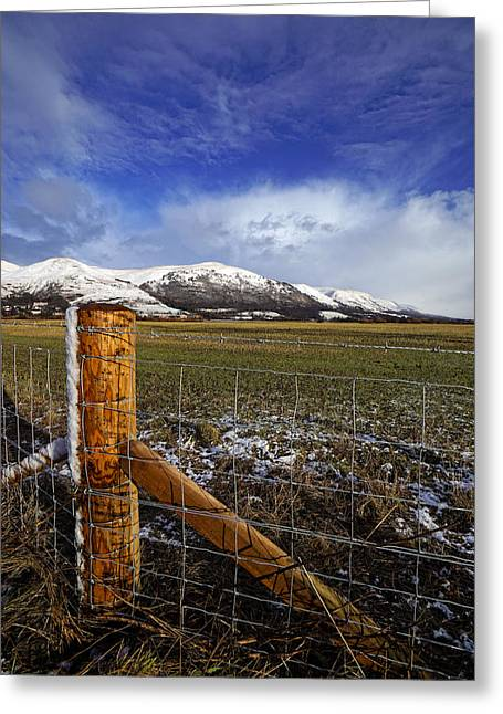 Greeting Card featuring the photograph The Ochils In Winter by Jeremy Lavender Photography