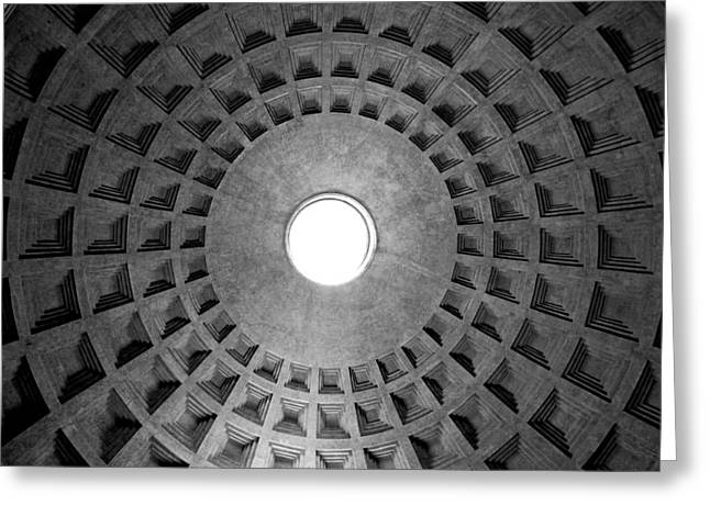 Geometric Photographs Greeting Cards - The oculus Greeting Card by Fabrizio Troiani