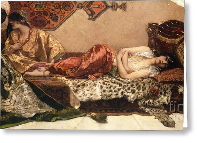 The Odalisque Greeting Card by Jean Joseph Benjamin Constant