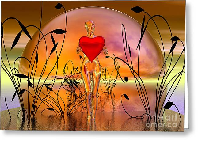 The Offering Greeting Card by Sandra Bauser Digital Art