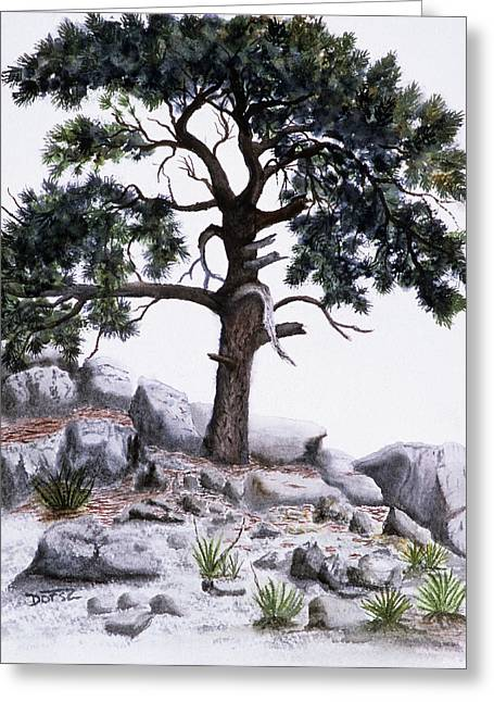 The Offering Tree Greeting Card by Tom Dorsz