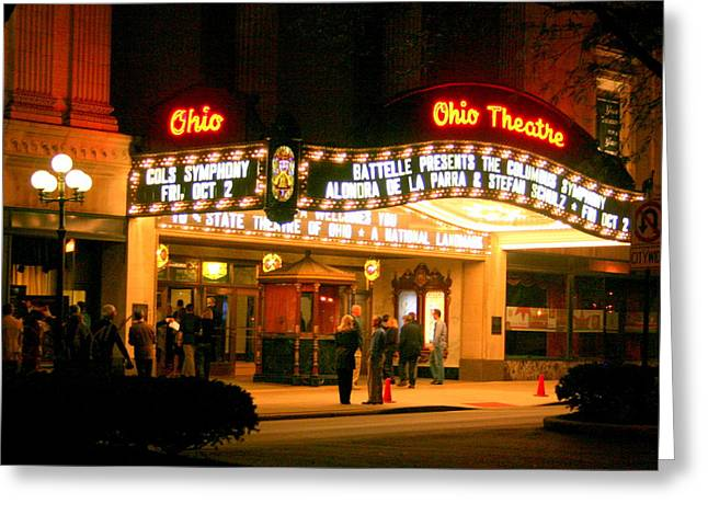 The Ohio Theater At Night Greeting Card