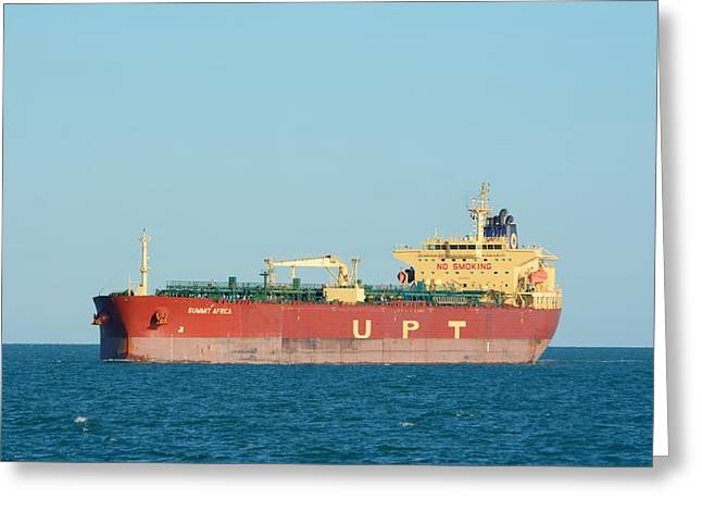 Greeting Card featuring the photograph The Oil Tanker Summit Africa by Bradford Martin