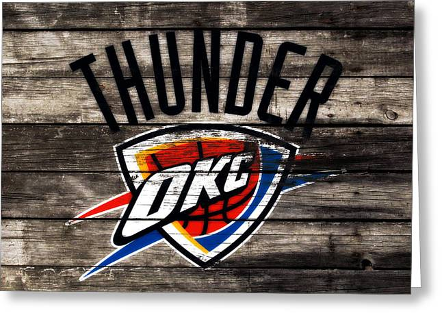 The Oklahoma City Thunder W10           Greeting Card by Brian Reaves