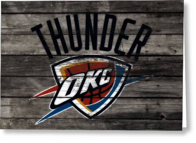 The Oklahoma City Thunder W8           Greeting Card by Brian Reaves