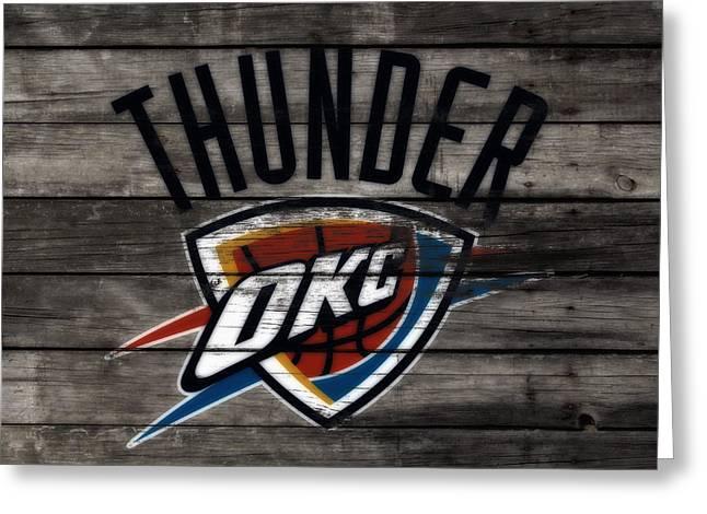 The Oklahoma City Thunder W8           Greeting Card